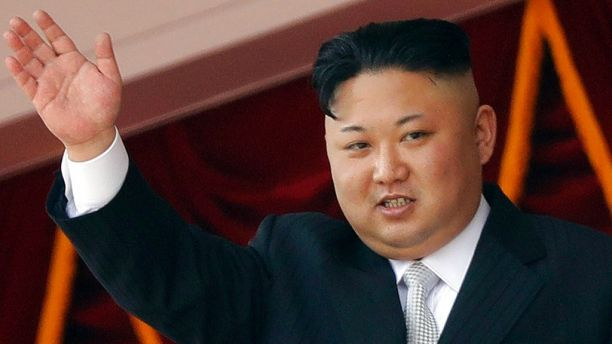 FILE - In this April 15, 2017, file photo, North Korean leader Kim Jong Un waves during a military parade in Pyongyang, North Korea. South Korea's military said Friday, Sept. 15, 2017 North Korea fired an unidentified missile from its capital Pyongyang that flew over Japan before landing in the northern Pacific Ocean. (AP Photo/Wong Maye-E, File)