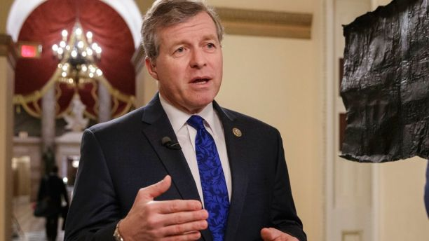 FILE - In this March 23, 2017, file photo, Rep. Charlie Dent, R-Pa., speaks on Capitol Hill in Washington. Dent, leader of an influential caucus of GOP moderates in the House, announced he will not seek re-election to an eighth House term next year. (AP Photo/J. Scott Applewhite, File)