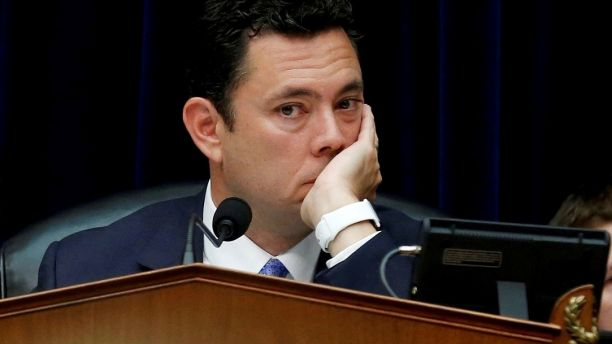 FILE PHOTO: House Oversight and Government Reform Committee Chairman Jason Chaffetz (R-UT) listens to testimony  during a committee hearing about the private email server of Democratic presidential nominee Hillary Clinton, used during her tenure as Secretary of State, on Capitol Hill in Washington, U.S., September 13, 2016. REUTERS/Jonathan Ernst/Files - RC14D8B14550