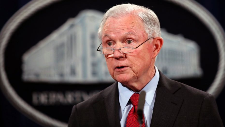 Attorney General Jeff Sessions defended the FBI's work Friday hours after President Trump said its reputation was 'in tatters'.