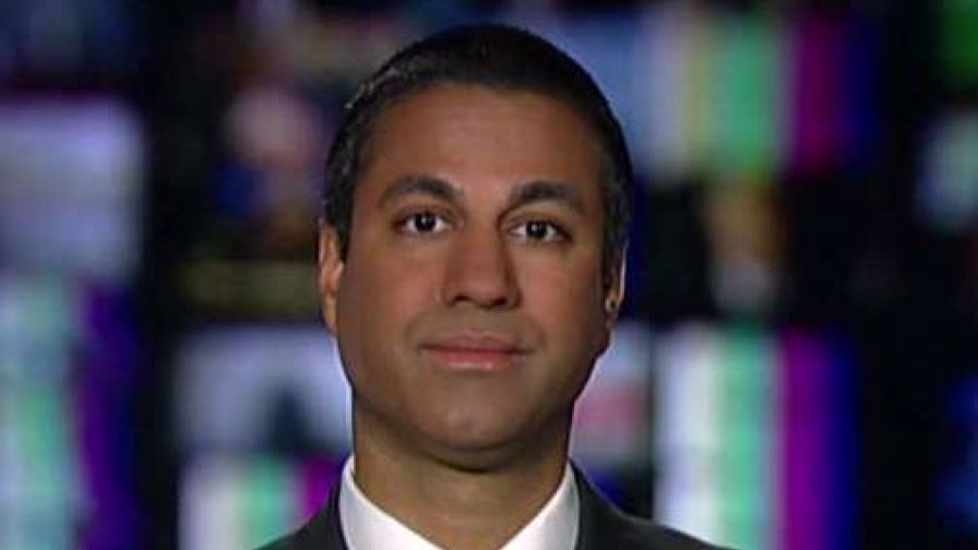 Ajit Pai responds after internet activists go to his property to protest plans to roll back Obama-era net neutrality rules.