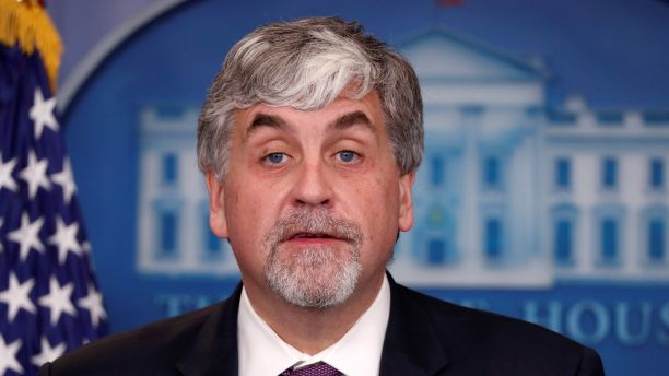 U.S. acting Secretary of Health and Human Services (HHS) Eric Hargan addresses reporters during the daily news briefing at the White House in Washington, U.S., November 30, 2017.  REUTERS/Jonathan Ernst - RC1B3B26FB30