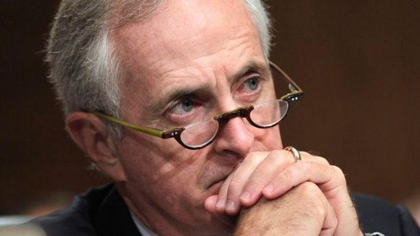 Oct. 6, 2011: Senate Banking Committee member Sen. Bob Corker, R-Tenn., listens during a hearing on Capitol Hill in Washington.