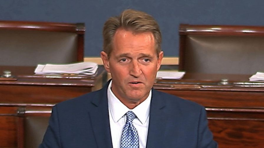 Jeff Flake, the Republican senator from Arizona speaks on the Senate Floor, criticizes current political climate, calls for a return to civility and announces he will not run for reelection.