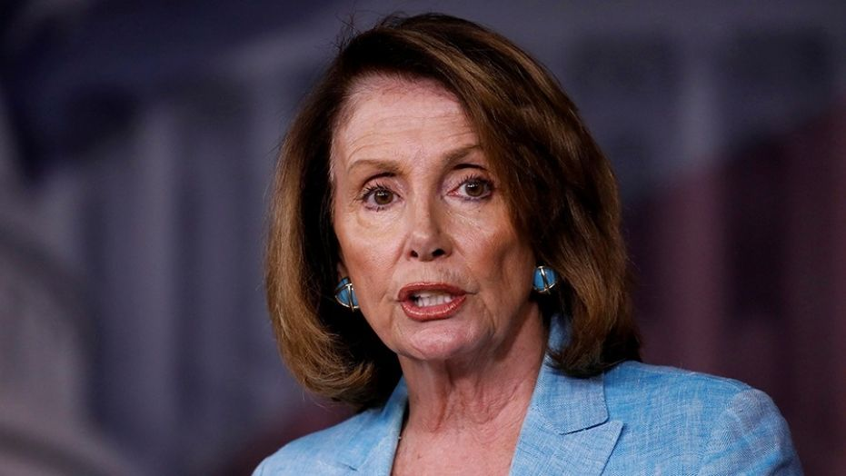 House Minority Leader Nancy Pelosi speaks about the recent attack on the Republican congressional baseball team during her weekly press conference on Capitol Hill in Washington in June.