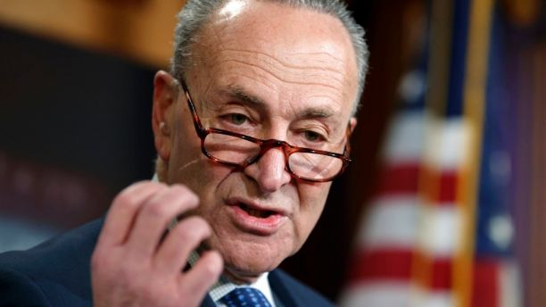 Senate Minority Leader Chuck Schumer, D-N.Y., holds a news conference to talk about the Democratic victory in the Alabama special election and to discuss the Republican tax bill, on Capitol Hill in Washington, Wednesday, Dec. 13, 2017. (AP Photo/J. Scott Applewhite)