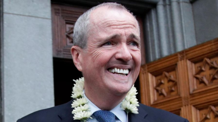 Democrat Phil Murphy replacing GOP Gov. Chris Christie