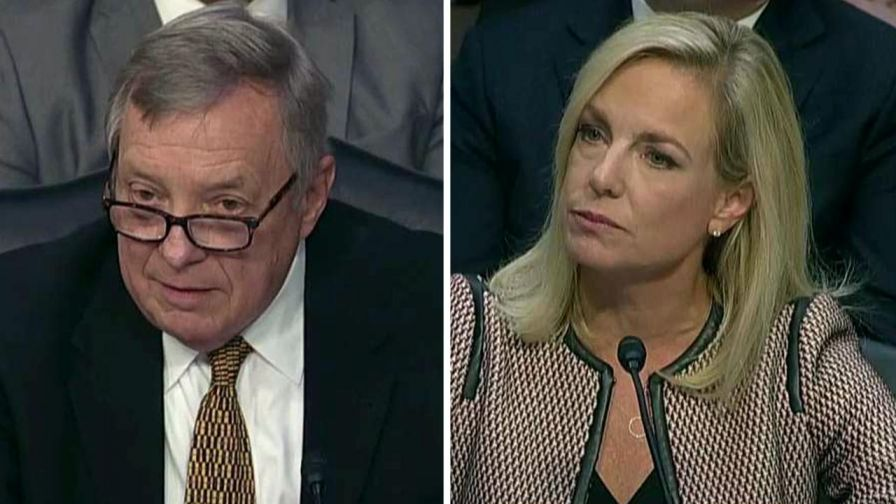 Homeland Security Secretary Kirstjen Nielsen says she remembers 'a lot of rough talk' and 'general profanity' during immigration meeting at the White House with President Trump and members of the Senate.